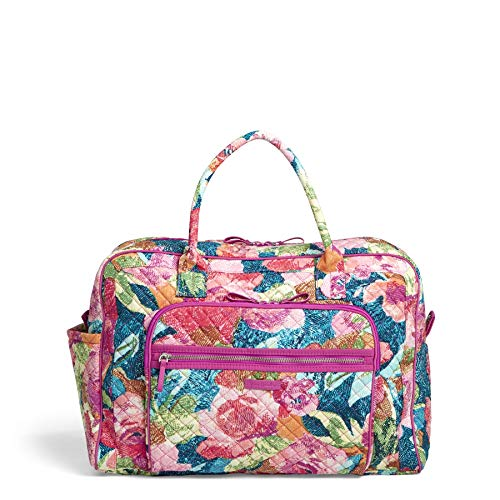 (Vera Bradley Iconic Weekender Travel Bag, Signature Cotton, Superbloom)