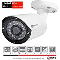JC 4-in-1 2MP Full HD 1080p TVI / AHD / CVI / 960H CCTV Security Bullet Waterproof Camera 24IR LED 65FT IR Range Outdoor
