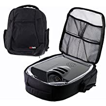 Navitech Protective Portable Projector Carrying Case and Travel Bag for the BenQ MH741 / BenQ MW727 / BenQ W1080ST+