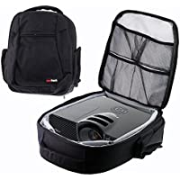 Navitech Rugged Black Backpack / Rucksack / Carry Case For The Mlison Video Projector 2000 Lumens Home Cinema Theater