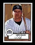2001 Topps Heritage # 197 Larry Walker Colorado Rockies (Baseball Card) Dean's Cards 8 - NM/MT Rockies