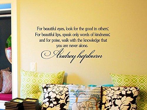 Decalgeek Audrey Hepburn Inspirational Sticker