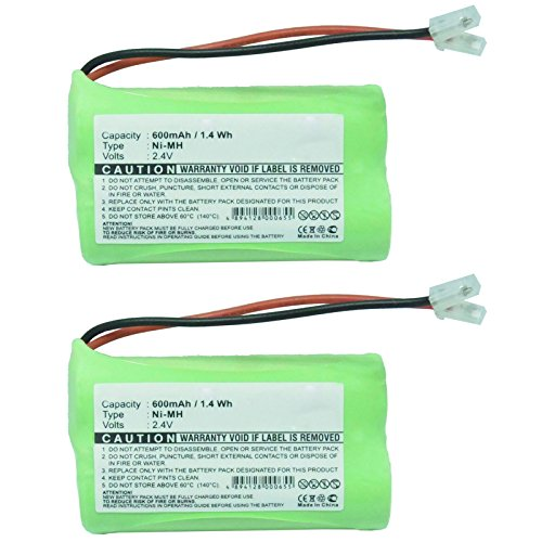 2PC Exell Cordless Phone Battery for 2 AA with Universal Adapters Fast USA Ship from Exell Battery