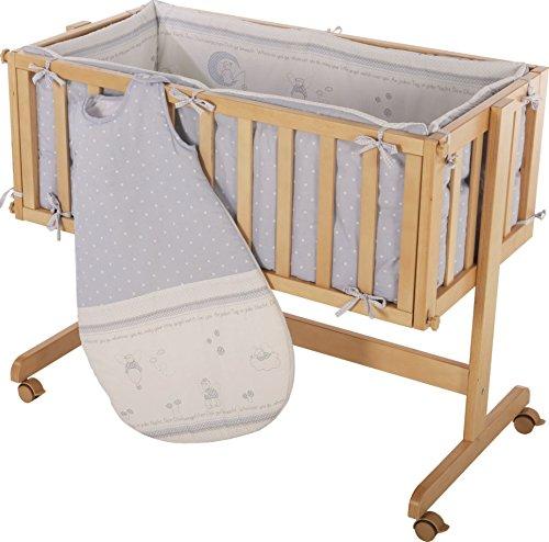 Cuna de colecho roba Room & Craddle, ajustable a la cama de los padres y utilizable como cuna normal, fabricada en madera, acabado natural.