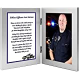 Police Officer Gift Frame – Hero Policeman Poem in a Double Silver Frame - Add Photo