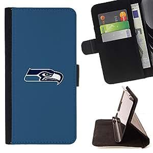 - Seattle Seahawk Minimal - - Prima caja de la PU billetera de cuero con ranuras para tarjetas, efectivo desmontable correa para l Funny HouseFOR HTC Desire 820