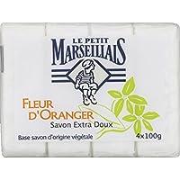 Le Petit Marseillais - Savon extra Doux Fleur d'oranger, Base Savon d'Origine végétale - De 4 savons van 100 g - (voor…