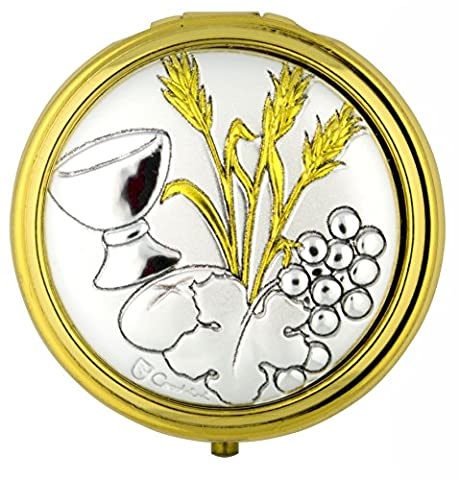 Catholic First Communion Pyx (Grapes and Wheat) (Catholic Deacon Gifts)