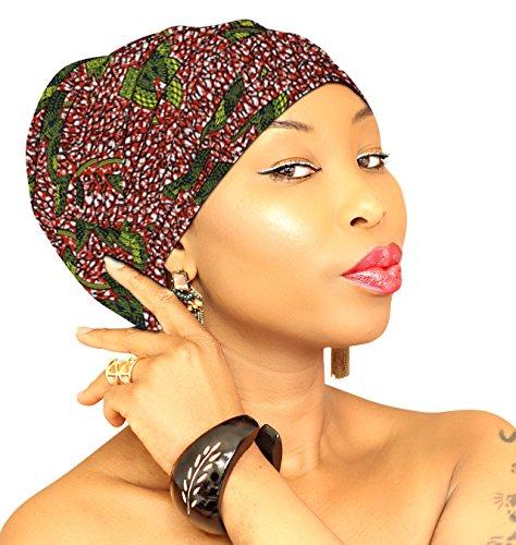 Chic Collection Head Wrap Wax Print Ankara Head Scarf Beautiful Hijab Handmade African Head Wrap - African -