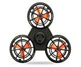 Aeon Hum Flying Fidget Spinner, Anti-Anxiety ADHD Relieving Reducer Interactive Fidget Rotation Triangle Toys Funny Drone Interactive Games For Kids Adults (Black)