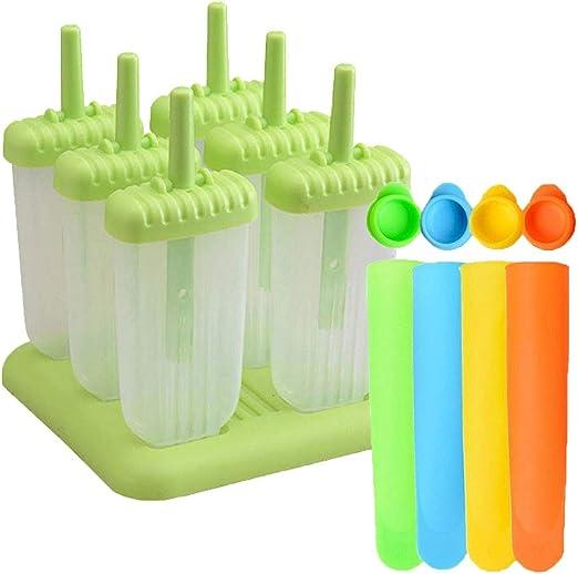 Compra Twshiny 6 piezas de hielo Pop juego de moldes de silicona y ...