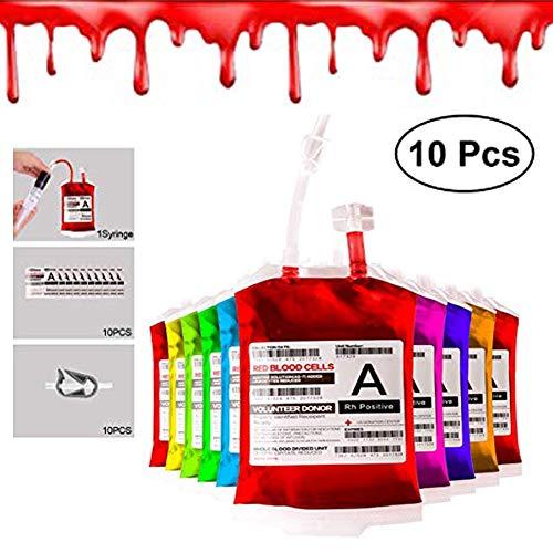 Comprar Bolsas de Sangre para Halloween Reutilizable Contenedor Bebidas 10 Piezas para Halloween - Envíos Baratos o Gratis