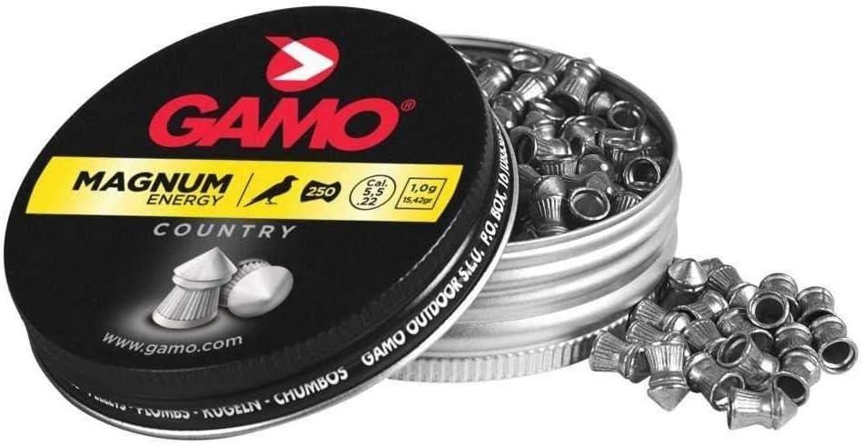 Gamo Magnum - 250 Balines en Caja de Metal, 5.5 mm