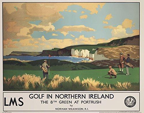 Vintage Golf - Golf in Northern Ireland Art Print, 28 x 22 inches