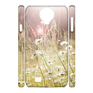 T-TGL(RQ) Samsung Galaxy S4 I9500 3D Hard Back Cover Case Daisy with Hard Shell Protection