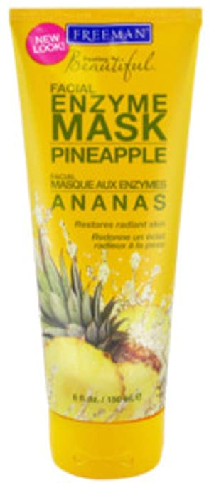 Freeman Feeling Beautiful Facial Enzyme Mask Pineapple 6 oz (Pack of 2) Perfective Ceuticals - Divine Age Guardian Serum with Growth Factor - 50ml/1.7oz
