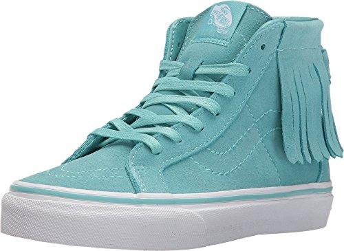 Vans Girl's Sk8 Hi Moc Suede Skateboarding Shoes (10.5 Little Kid M, Aqua - Kids Top High Vans