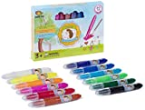 NOYO Crayons Set of 12 Gel Crayons - Washable Crayons- Children art supplies colors for kids / toddlers / preschooler -3-1 extraordinary bolder crayons, pastel and watercolor effects