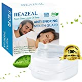 Snore Stopper Mouthpiece by Reazeal Snoring Solution, Sleep Aid Night Mouth Guard Bruxism Mouthpiece