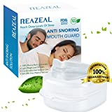 Snore Stopper Mouthpiece by Reazeal - Snoring Solution, Sleep Aid Night Mouth Guard Bruxism Mouthpiece