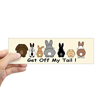 """CafePress - Get Off My Tail - 10""""x3"""" Rectangle Bumper Sticker Car  Decal"""