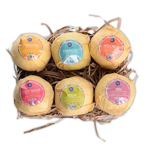 Bath Bombs,6 Organic Essential Oils Bath Bombs Gift Set Lush Fizzies-Best Birthday Gifts for Women,Teen Girls,Mum-Add to Bubble Bath Basket