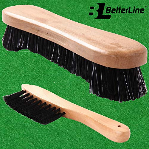 BETTERLINE Billiard Pool Table Brushes for Rail Cleaning - Bonus Cue Chalk Cubes and Pool Table Spot Dot Stickers