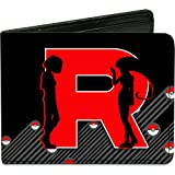 Pokemon Monsters - Team Rocket James & Jessie & Meowth - Bi-Fold Wallet