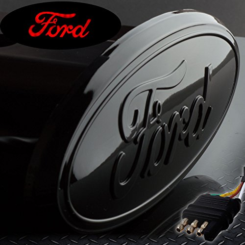 Led Trailer Hitch Brake Lights - Ford Hitch Cover Licensed LED Light Trailer Towing Hitch Receiver Cover Black Finish 6532