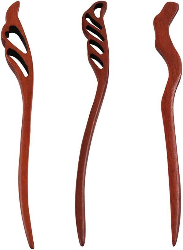 fenteer 3 Pack Barra para cabello (madera estilo baquetas China ...