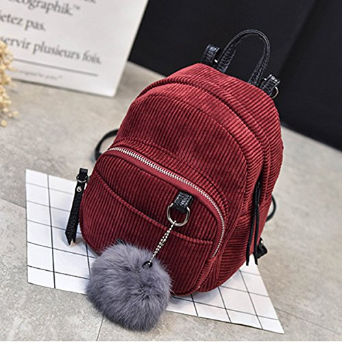mujeres rojo de viajan hombro bolsos señoras las Las las el Backpacks ocasionales mini bola lona la Espeedy de compras de bolso de Las haciendo muchachas retras empluman la la simples manera 5qSAgOW
