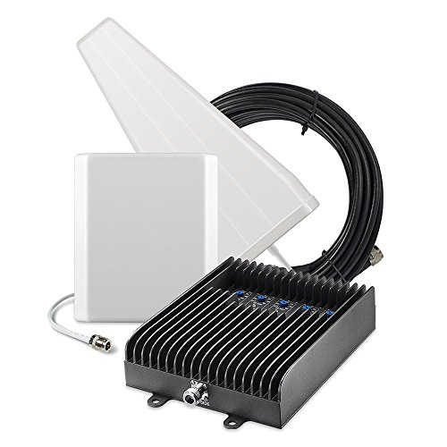 SureCall Fusion5s Voice, Text, 4G LTE Cell Phone Signal Booster Kit - Yagi/Panel ()