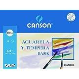 Canson 726437 - Pack de 6 hojas para acuarela, 370 gr
