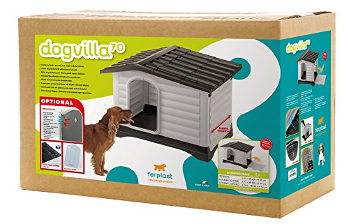 Feplast 87253099 Dogvilla 70 – Caseta de exterior para mascotas