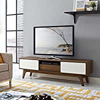 Modway EEI-2540-WAL-WHI Envision, 59 Tv Stand, Walnut White