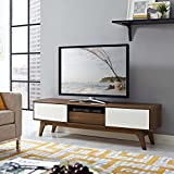 modern media stand - Modway EEI-2540-WAL-WHI Envision, 59
