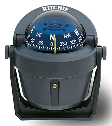 Ritchie Explorer Compas Dial With Adjustable Bracket Mount And 12V Green Night Lighting (Gray, 2 3/4-Inch) (Compass Mount Dash)