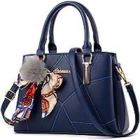 BAIGIO Women PU Leather Tops Handle Handbags Designer Shoulder Crossbody Purses