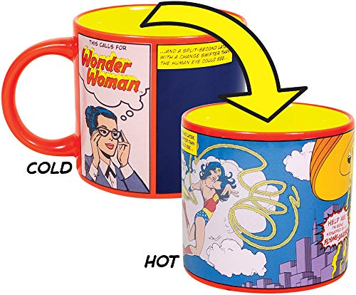 This Calls for Wonder Woman Heat Changing Mug - Add Coffee or Tea and Diana Prince Transforms into Wonder Woman - Comes in a Fun Gift Box