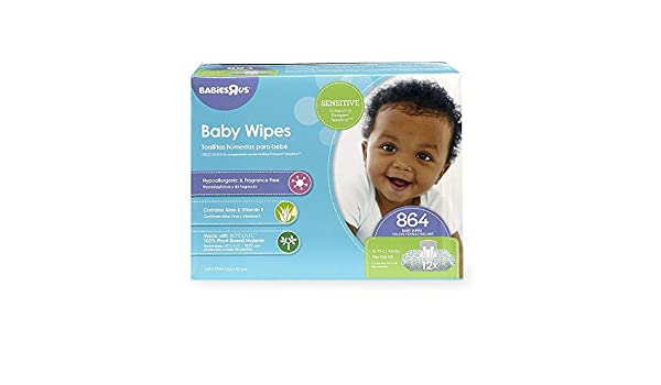 Amazon.com : Babies R Us Sensitive Baby Wipes - 864 Count by Babies R Us : Baby
