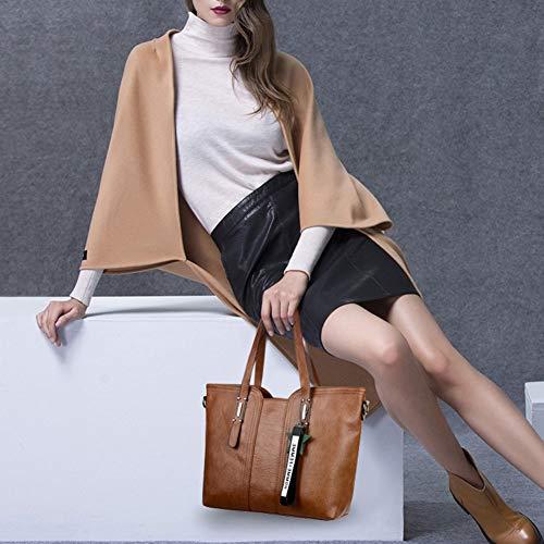 Style Mode Femmes Vintage Femmes Tote Sacs Fourre Sac Main Yellow Main Cuir Wibis À black Grand tout Travail Souple Pu Bandoulière Bag wIvzxnUq