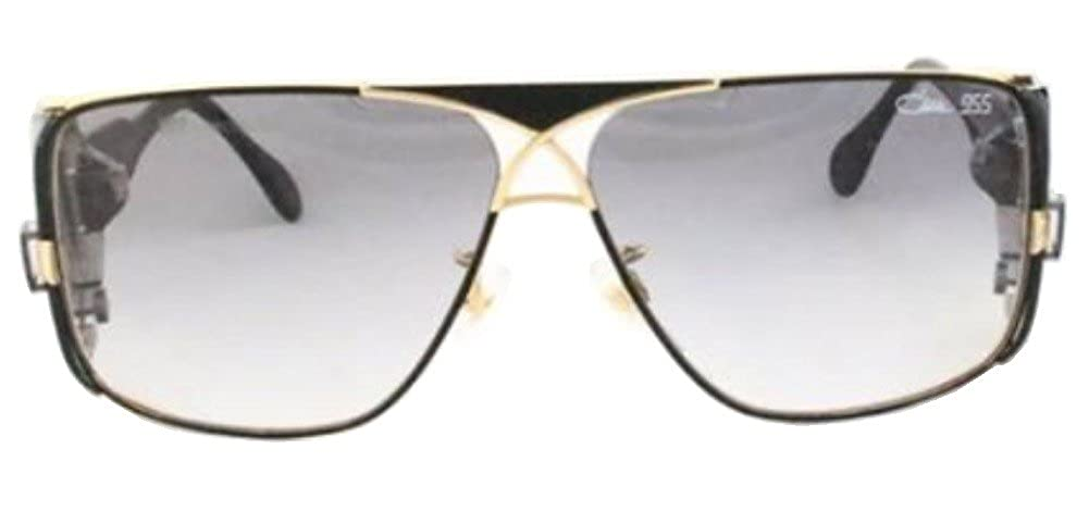 Amazon Com Cazal Cz 955 Sunglasses 302 Black W Gold Trim 63mm Clothing