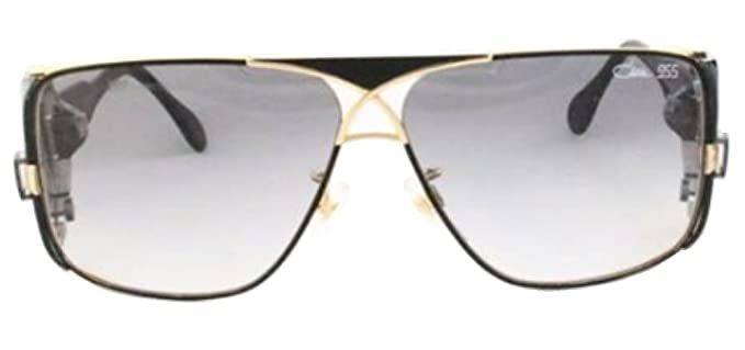 bf6b98007b40 Amazon.com  Cazal CZ 955 Sunglasses 302 Black w Gold Trim 63MM  Clothing