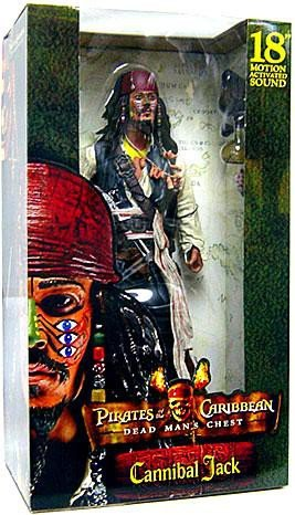 Pirates of the Caribbean Cannibal Jack Sparrow with Sound by NECA (Cannibal Caribbean Jack)