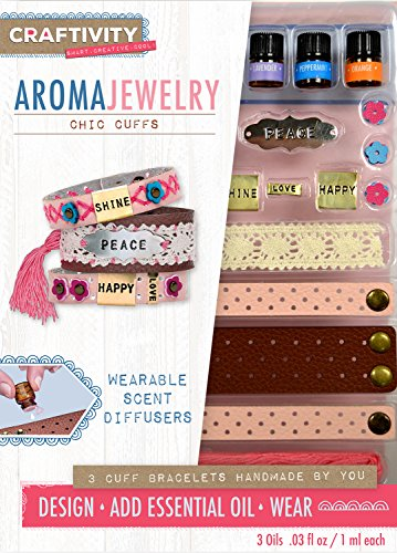 CRAFTIVITY AromaJewelry Chic Cuffs- Essential Oil Jewelry Making Kit