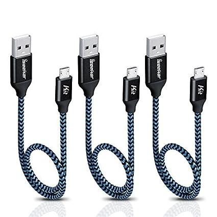Surprising Amazon Com Iseekerkit Short Micro Usb Cable 1Ft Nylon Braided Fast Wiring 101 Olytiaxxcnl