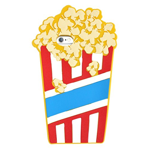 PLATA for iPhone 6 / iPhone 6s Case Real Popcorn Silicone Rubber Soft Case back cover 4.7 inches [ yellow ] (Popcorn Shape)