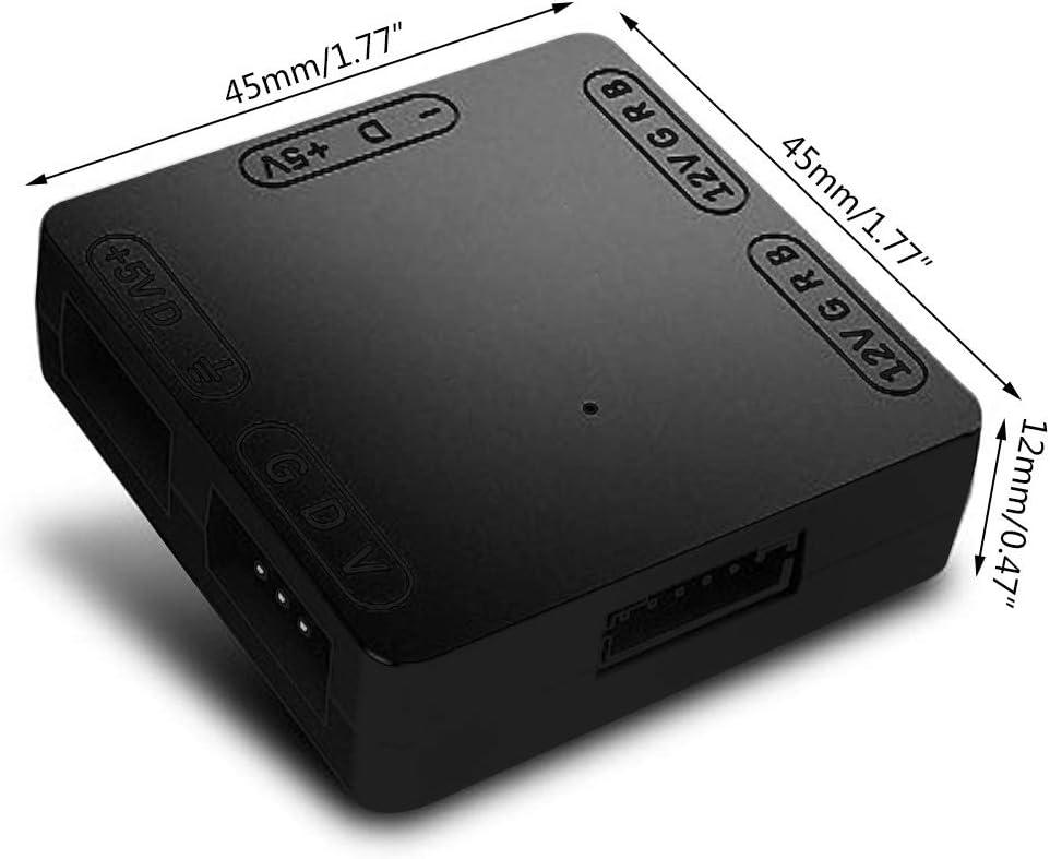 lijun 5V 3Pin zu 12V 4Pin RGB HUB 5V zu 12V Motherboard Light RGB Konverter