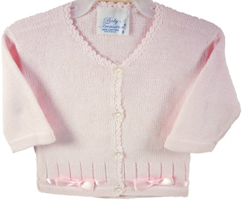 Baby's Trousseau Pink Knit Girls Button Down Sweater
