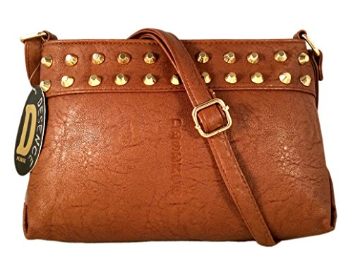 Promoción Especial New Fashion Fancy Único desginer Elegante mujeres y muchachas sling bolsa de regalos Brown